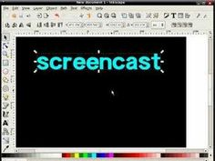 Good tutorial on reflected or mirrored text Inkscape-Screencast3 - Reflected Text