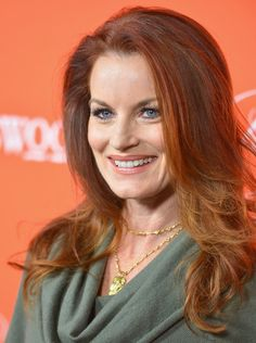 More Pics of Laura Leighton Long Curls Loose Hairstyles, Celebrity Hairstyles, Laura Leighton, Jungle Red, Beauty Over 40, Melrose Place, Long Curls, Old Money, Grow Out