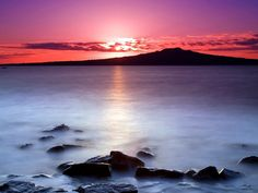 Rangitoto Island as seen from Auckland's North Shore. Im pretty sure were living the dream here people.