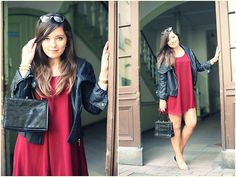 BURGUNDY DRESS (by Sandra G.) http://lookbook.nu/look/3974542-BURGUNDY-DRESS
