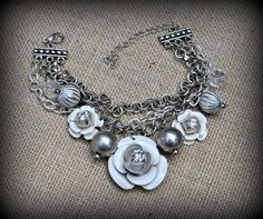 Layered Charm Bracelet with Metal Charms and by MarileeYours, $18.00