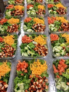 """THIS was #SchoolLunch yesterday Manor ISD, Manor, Texas: """"Looking for something healthy today @ lunch? @ManorISDFood has you covered w/grilled chicken salads f/ MEA! #ManorISD"""""""