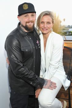 "Pin for Later: 27 Hollywood Ladies and Their Hot Younger Guys Cameron Diaz and Benji Madden Age difference: Seven years Relationship status: The actress and her musician husband said ""I do"" in a private ceremony in January"