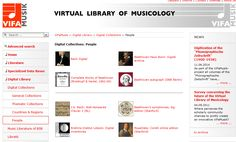 ViFaMusik Digital Collections including complete and selected work editions