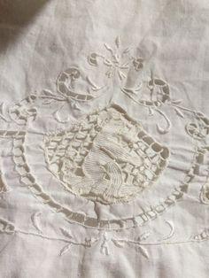 French fine linen hand towel 1900's  by MyShabbyValentine on Etsy