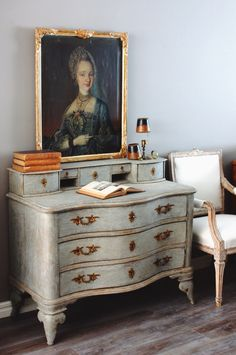 Period Swedish Baroque Chest of Drawers