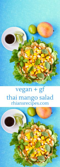 This Vegan Thai Mango Salad is a vibrant addition to any dinner table, and looks especially impressive at dinner parties. Also gluten-free.