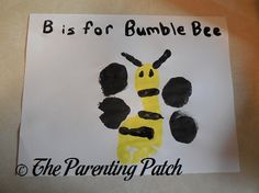 B Is for Bumblebee Footprint Craft | Parenting Patch