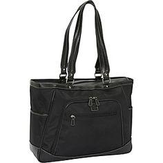 "nice.  very nice.  Clark & Mayfield Sellwood XL 17.3"" Laptop Tote - Black - via eBags.com!"