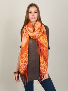 love this bright sunny scarf, keeps you warm in more than one way on cold days