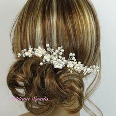 Bridal comb -etsy