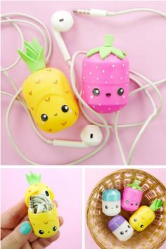 How to make DIY Kinder surprise egg earphones holder. in this video tutorial, I show how I customized surprise egg capsules into kawaii earphones holder and . Diy Crafts For Girls, Fun Diy Crafts, Jar Crafts, Crafts For Kids, Teen Girl Crafts, Creative Crafts, Kawaii Crafts, Kawaii Diy, Instruções Origami