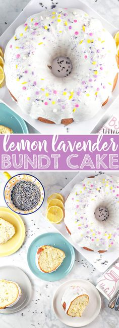 Lemon Lavender Bundt Cake: a light and delicate vanilla bundt cake, full of lemon zest and dried lavender.  It's the perfect cake for spring and summer entertaining, like bridal showers, baby showers, or Mother's Day! {Bunsen Burner Bakery} via @bnsnbrnrbakery