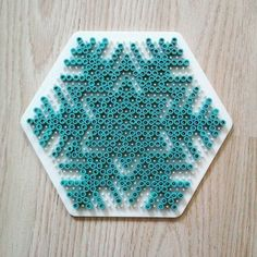 Snowflake hama beads by  darkmaman