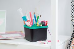 Keep your little one organized with our KPT Holder that easily stores all of their #backtoschool and arts & crafts essentials! #Tupperware
