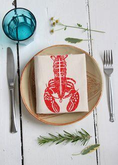 Set of 4 Linens Reusable Tabletop Decor Octopus Napkins Eco Friendly Cloth Napkins Washable Organic Cotton Tablescape