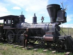 picture of hell on wheels train   The Hell On Wheels Train with myself - On Set.