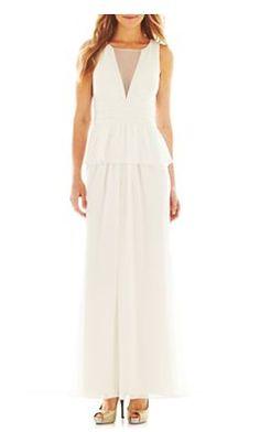 Liliana Peplum Illusion Gown