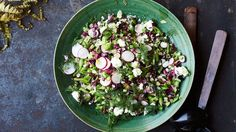 Chopped Salad with Shallot Vinaigrette, Feta, and Dill Recipe | Bon Appetit