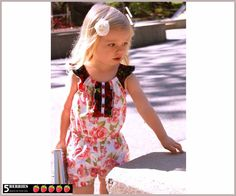 Charlotte Girls Romper Pattern, 12m-12y, PDF SEWING PATTERN for Children, baby, Toddler, E Book, Tutorial, 5Berries