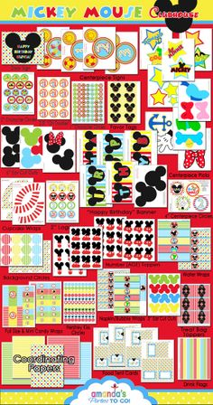 Mickey Mouse Clubhouse Party Printable Birthday $29