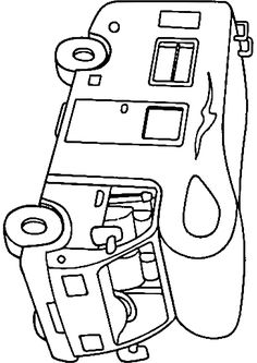 Rv coloring pages campervan or motorhome coloring page saftey project coloring pages - Dessin a colorier camping car gratuit ...