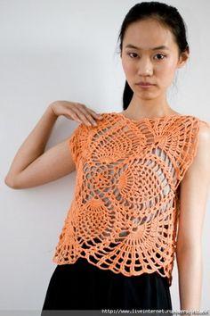 crochet top chart pattern diagrams pdf | marifu6a - Patterns on ArtFire