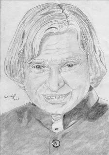 Sachin Bhagat Art: Pencil Sketch of Dr. APJ Abdul Kalam
