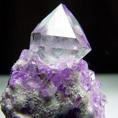 Quartz on Sugilite matrix from Wessels Mine, South Africa