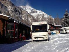 Viaje a Suiza en autocaravana Carthago,  temporada de nieve