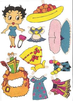 TODORECORTABLES PAPER DREAMS: BETTY BOOP RECORTABLES, index cards, boxes and coloring pages