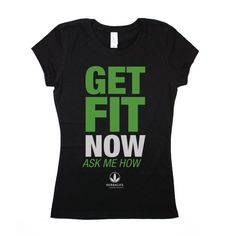 Herbalife Juniors 'Get Fit Now' Black Crew #dsaccess #herbalife #apparel #herbalifeshirt #tshirt