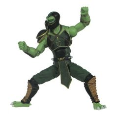 """Mortal Kombat 4"""" MK2 Reptile by Mortal Kombat. $9.83. Fully articulated classic figure. Collect all four Mortal Kombat action figures Also available in Scorpion, Sub-Zero and Ermac. Inspired by the Mortal Kombat series of fighting games. From the Manufacturer                Mortal Kombat 2-Reptile 4"""" action figure. Now you can take the fighters of Mortal Kombat home with you. Recreate their most grueling battles.                                    Product Description         ..."""