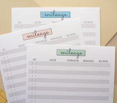 free printable mileage log for taxes