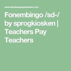 Fonembingo /sd-/ by sprogkiosken | Teachers Pay Teachers