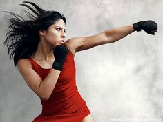 A pop of color on Olympic boxer Marlen Exparza made Vogue.  Pop colors indicate strength.
