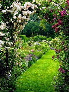 Gardens:  Border #garden and #arbor.