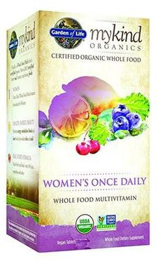 Garden of Life Multivitamin for Women - mykind Organic Women's Once Daily Whole Food Vitamin Supplement, Vegan, 60 Tablets