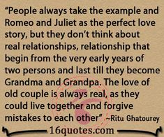 Romeo and Juliet love quote