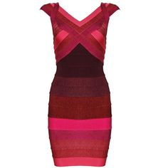 Bqueen Red Ombre Short Sleeve Sexy Bandage Dress H701 - Bqueen women shoes, Bqueen designer dresses on sale