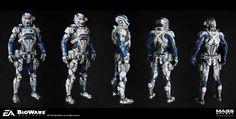 ArtStation - Andromeda Armor set., herbert lowis