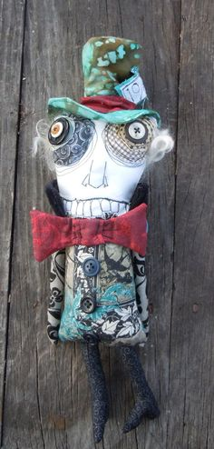 Mad Hatter art doll by Monster Maud