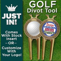 Crown's New Golf Divot Tool is a Great Piece to Add to Any Golfer's Bag. It Can Even be Customized with Your Own Logo or Artwork!
