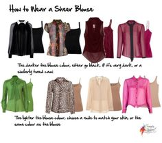 How to wear a sheer blouse Via