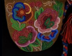 Detail of Metis Beaded Mittens | Oregon Museum of Natural and Cultural History
