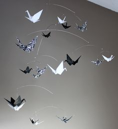 My favorite black and white mobile - I always felt that just black and white was missing something - a little bit of Damask! lg bw damask cranes (1).jpg