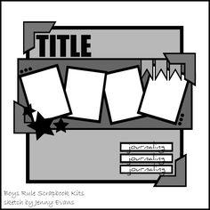 My Little Scrap Corner: Boys Rule layouts More