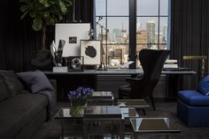 he does black on black so well...Chelsea NYC | Michael Dawkins Home