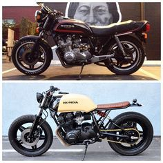 Before and after shots on the 1980 cb750 #meanmistermustard #seaweedandgravelgarage