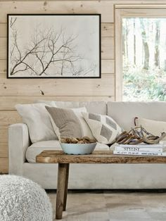 Loving this neutral palette as we head into the cooler months #interiors #Autumn #style
